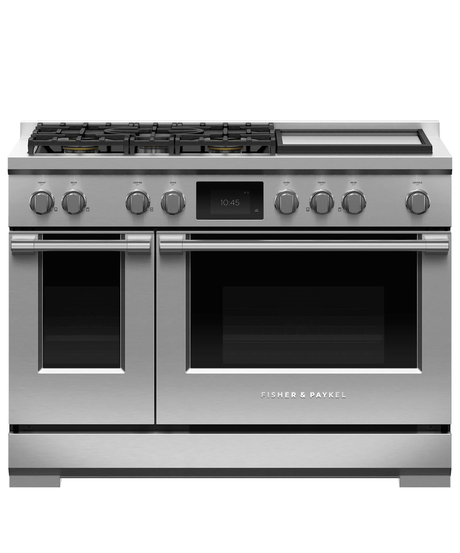"Fisher and Paykel Dual Fuel Range, 48"", 5 Burners with Griddle,LPG"