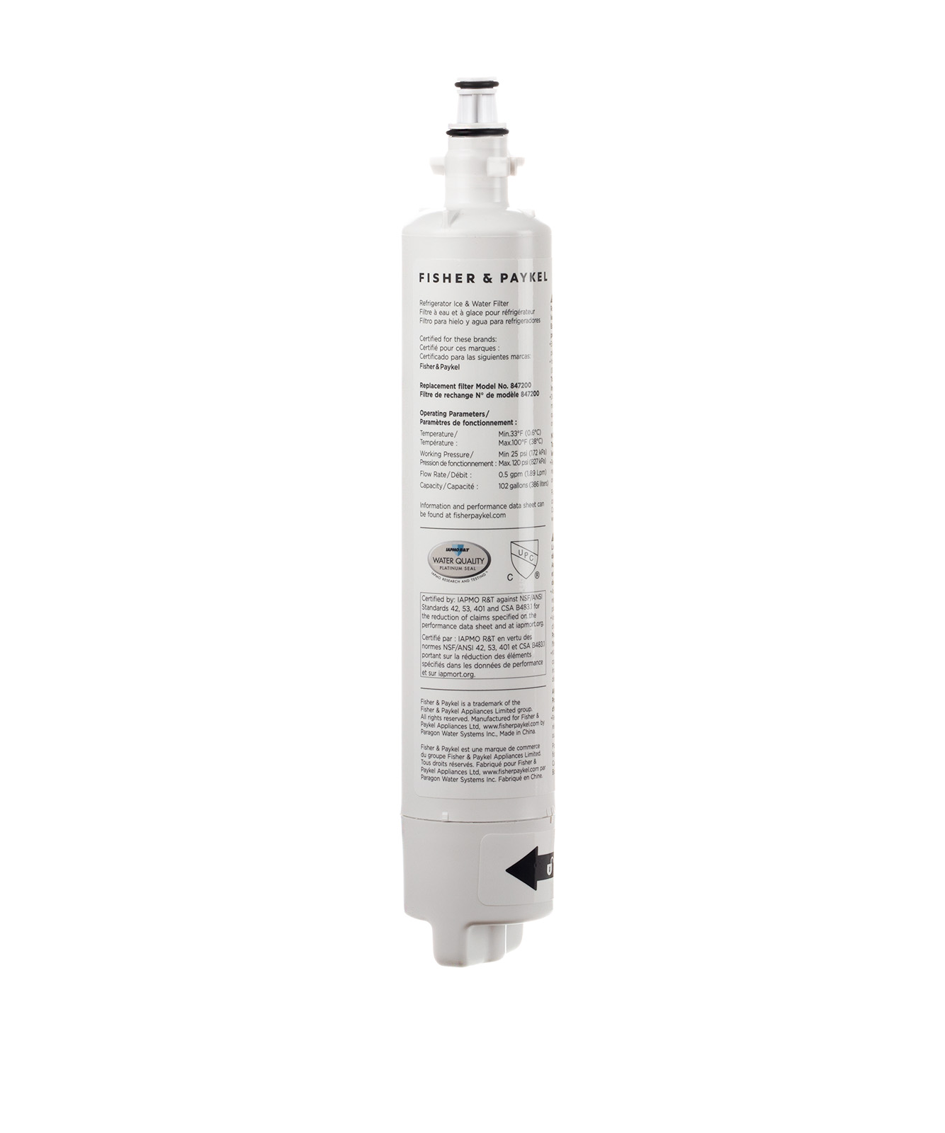 847200 - Water Filter Cartridge - 847200