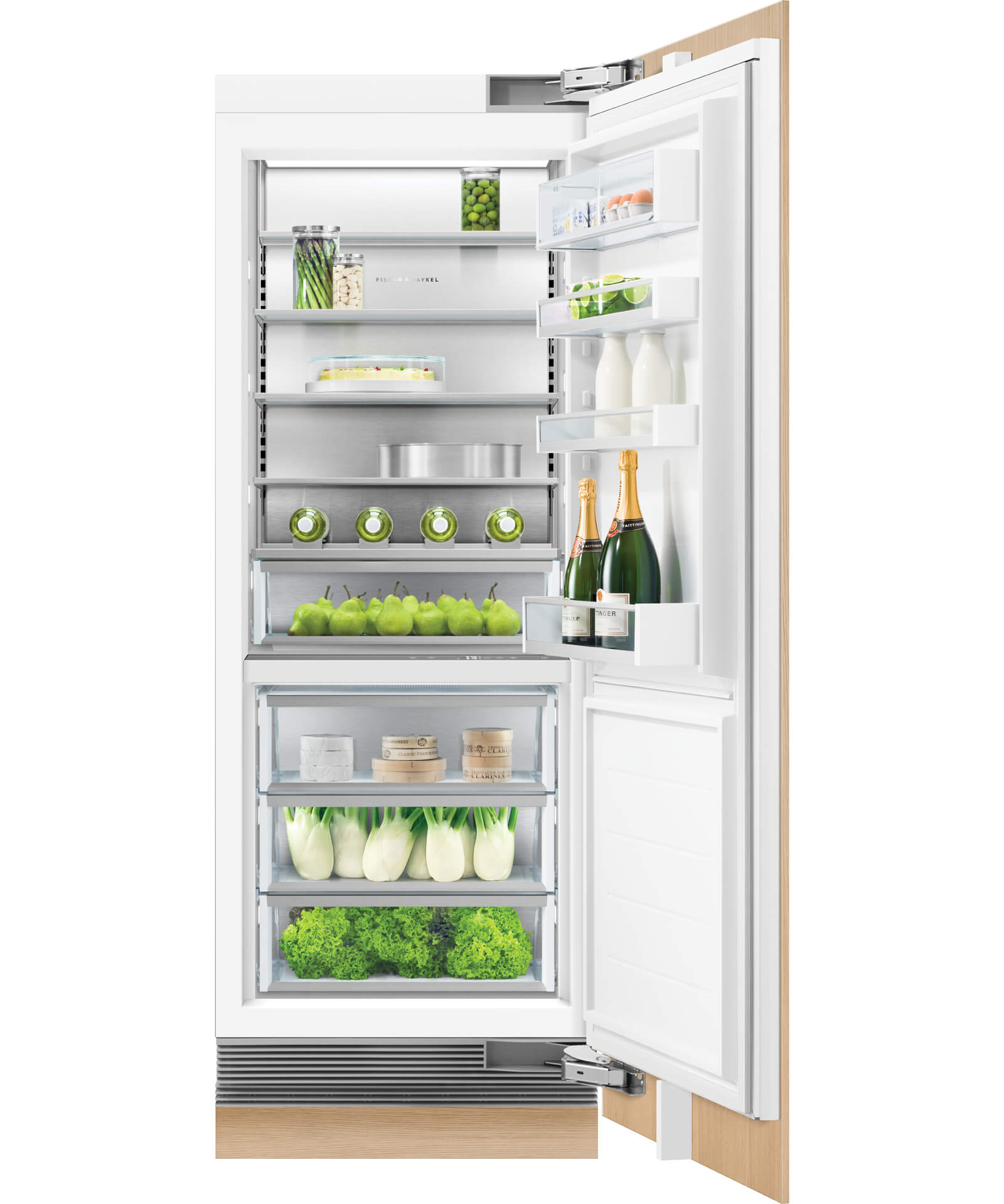 Rs3084srk1 Integrated Column Refrigerator 30 Quot Fisher