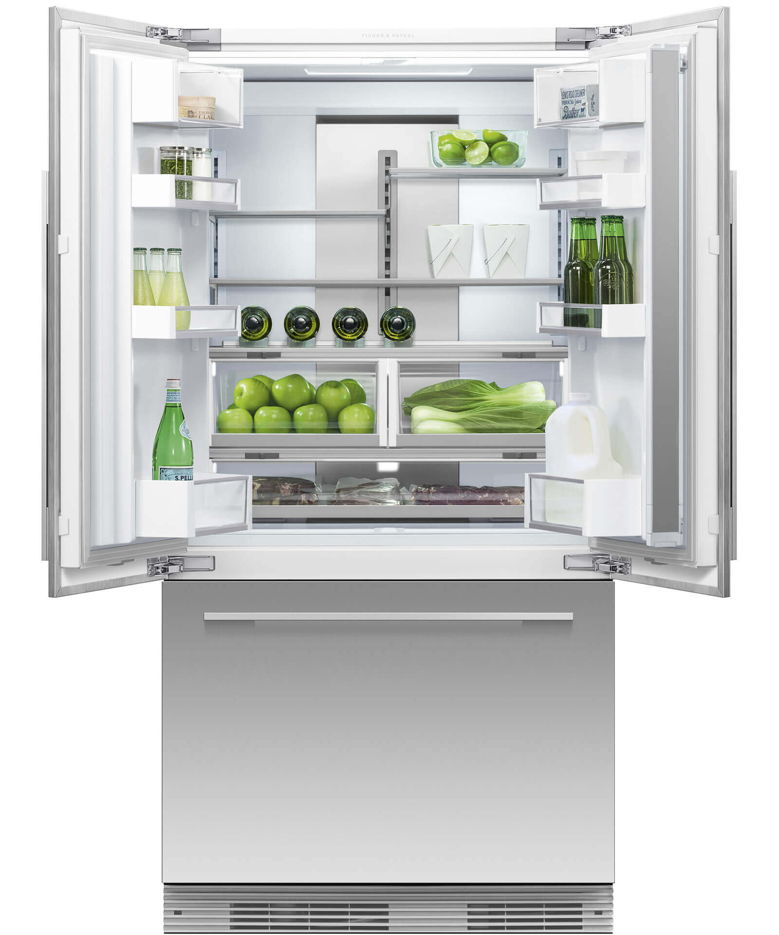 Rs90au1 Integrated French Door Fridge 900mm 525l Ice