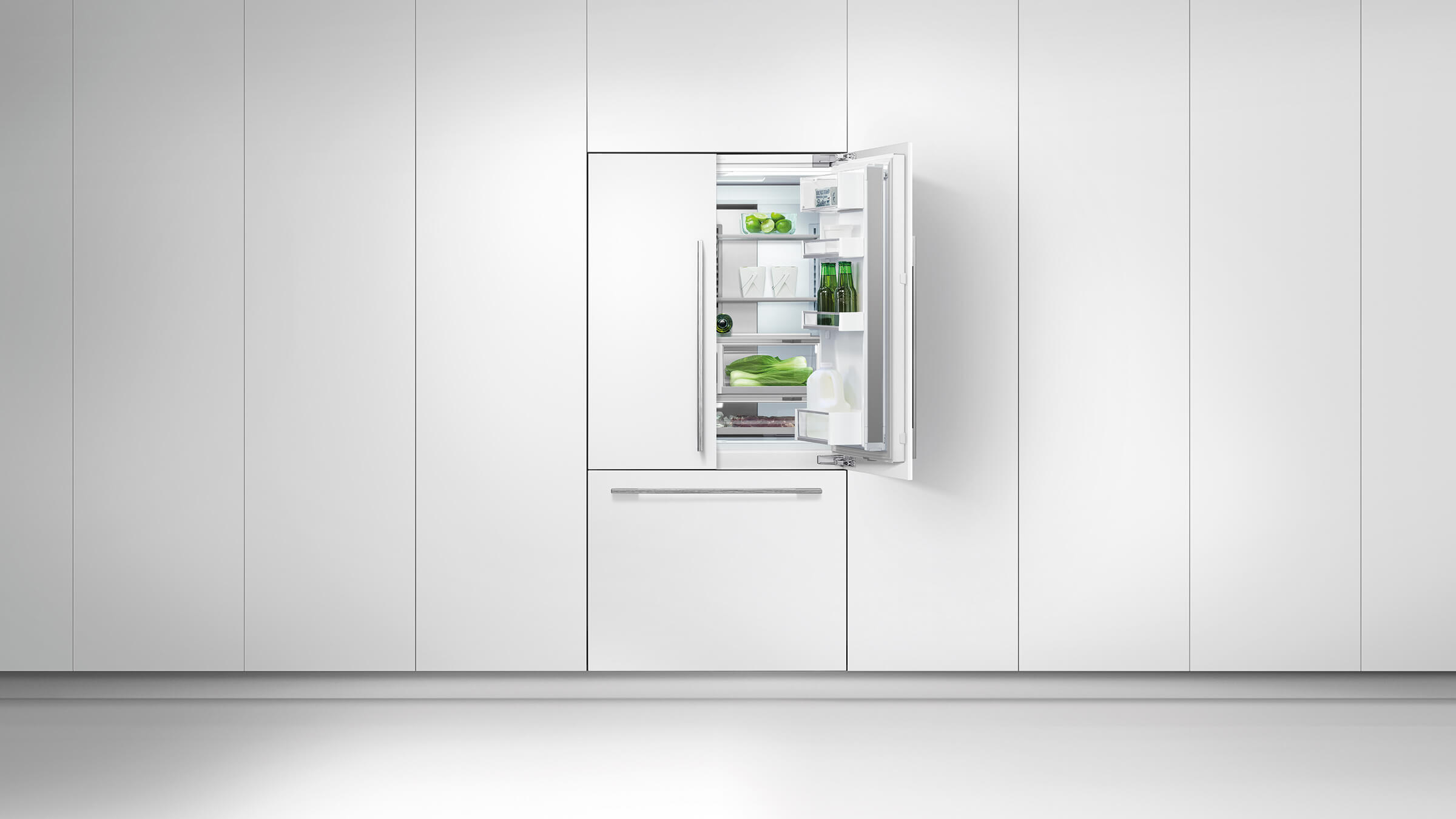 Side by side integrated fridge freezer - Sized To Suit