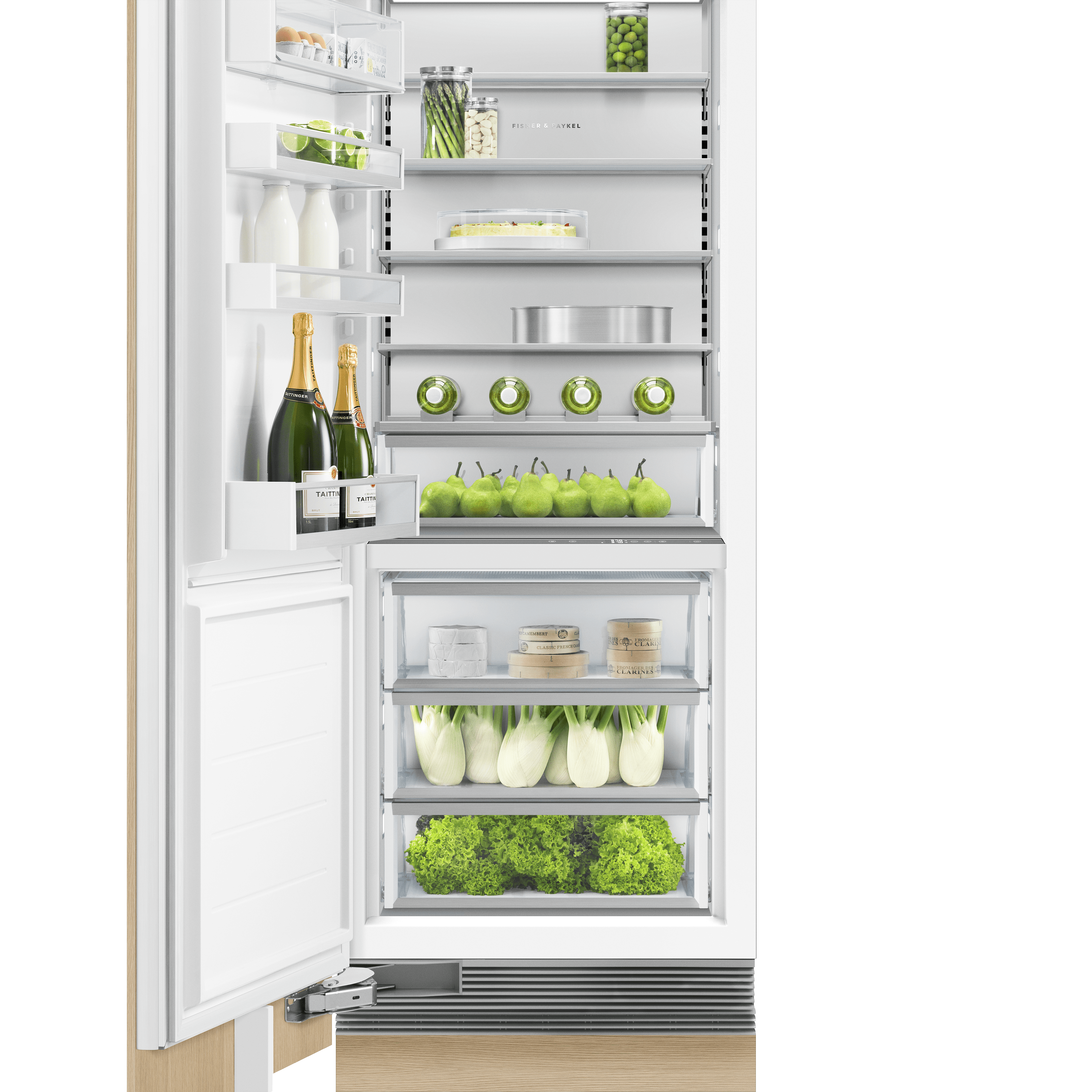 Model: RS3084SL1 | Fisher and Paykel Integrated Column Refrigerator 30""