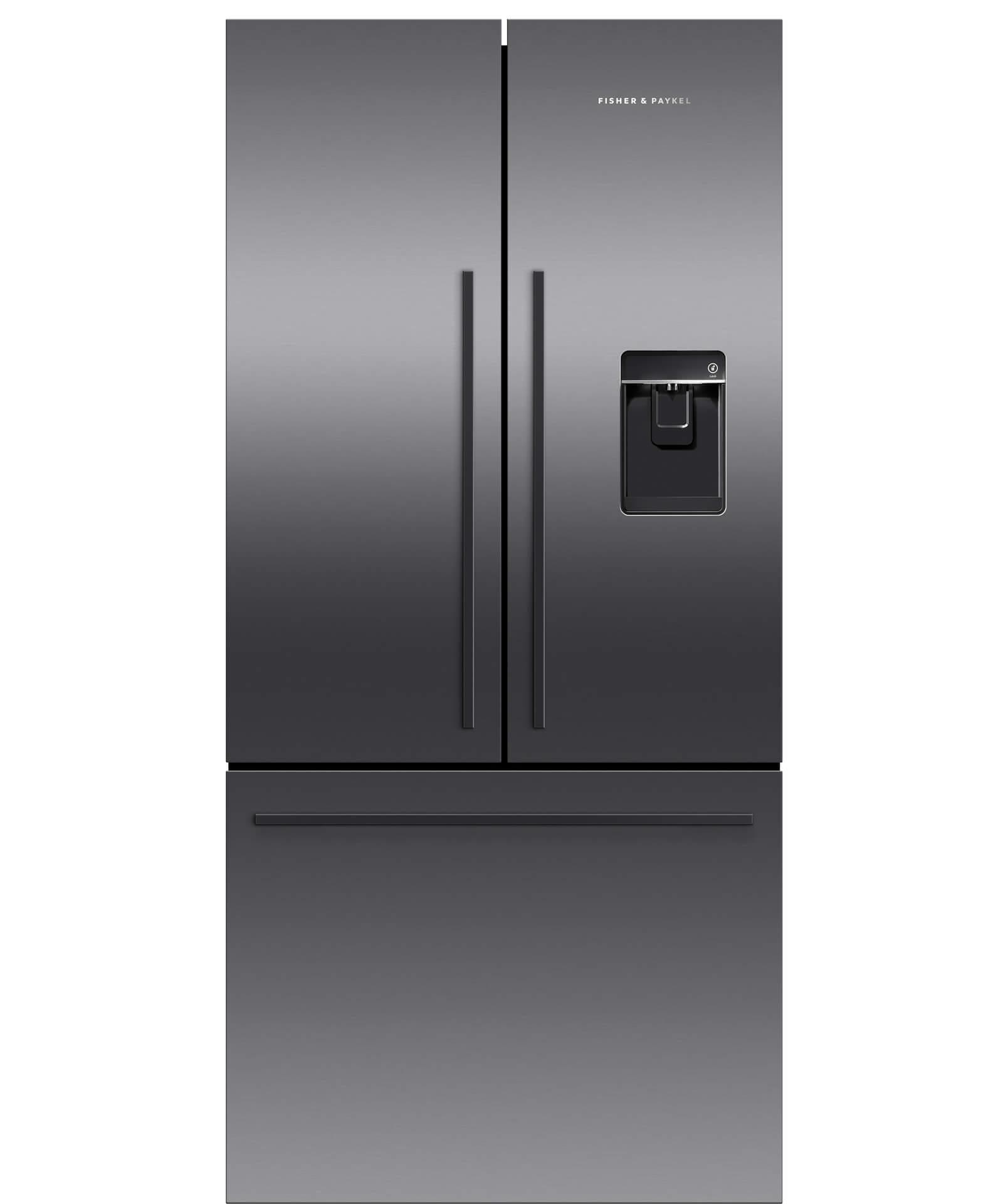 RF170ADUSB5 - Black French Door Fridge, 17 cu ft, Ice & Water ... on