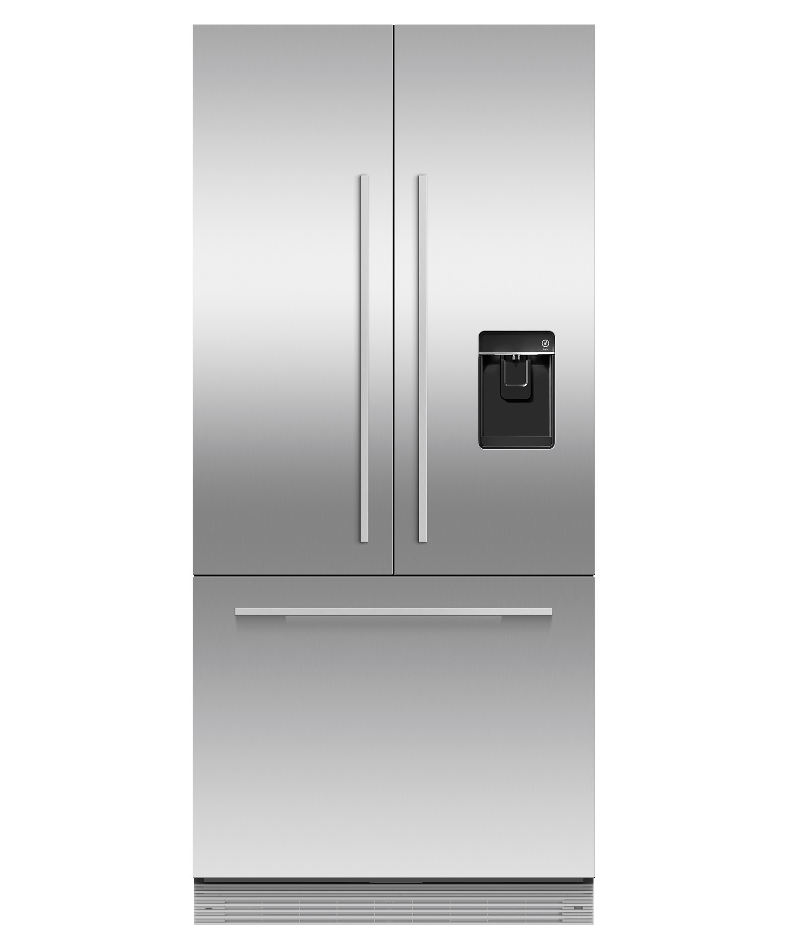 "Fisher and Paykel Integrated French Door Refrigerator Freezer, 32"", Ice & Water"