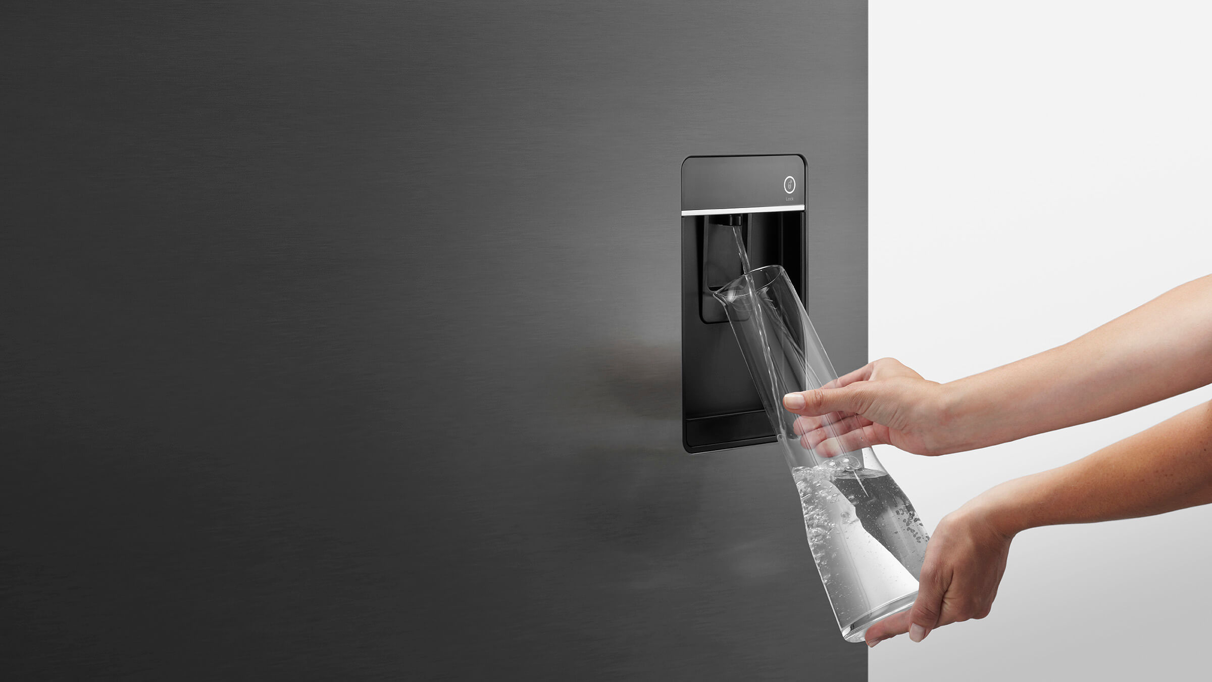 Ultra slim water dispenser