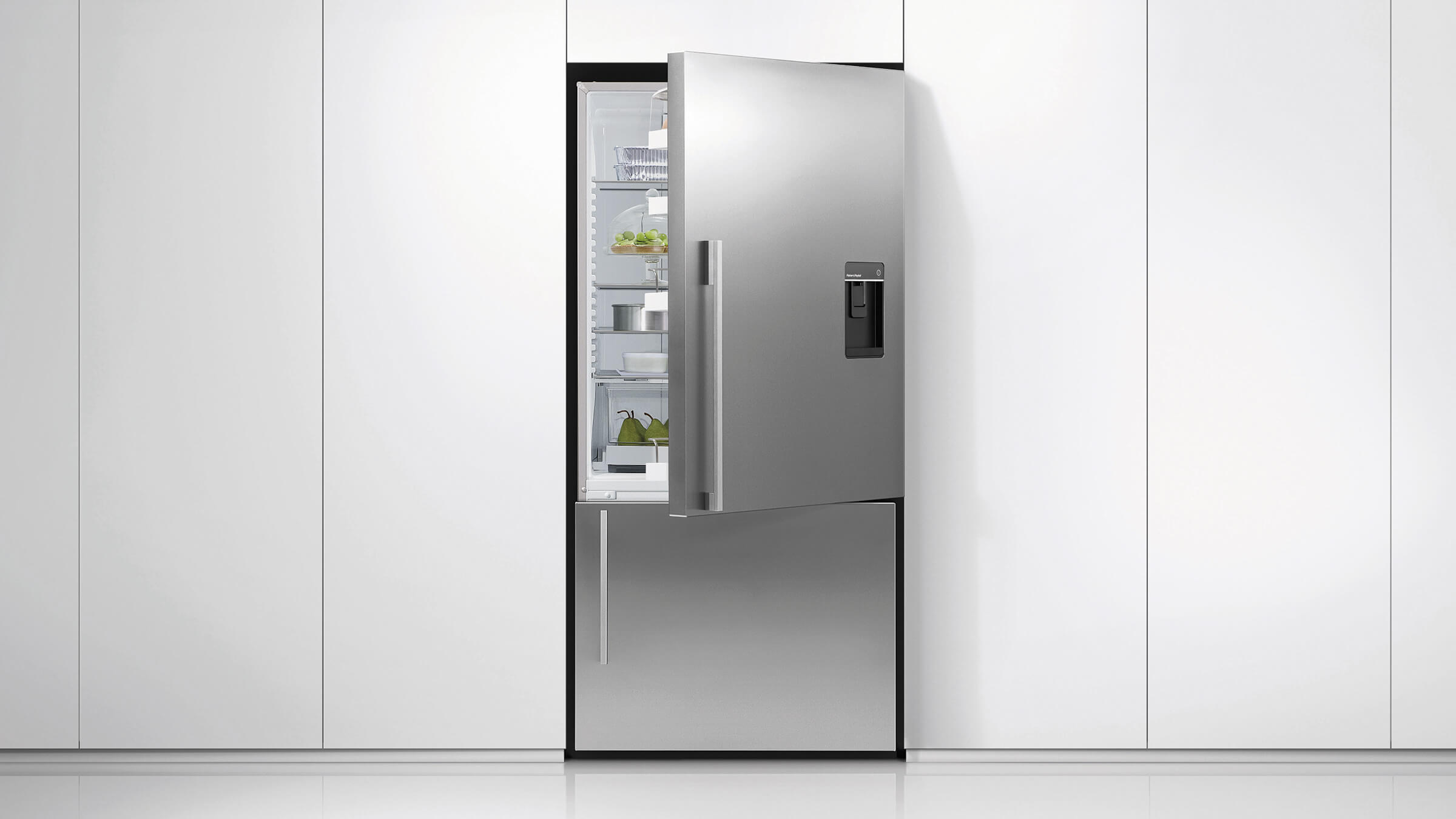 Sized to Suit & RF610ADUSX5 - ActiveSmart™ Fridge - 900mm French Door with Ice ... Pezcame.Com