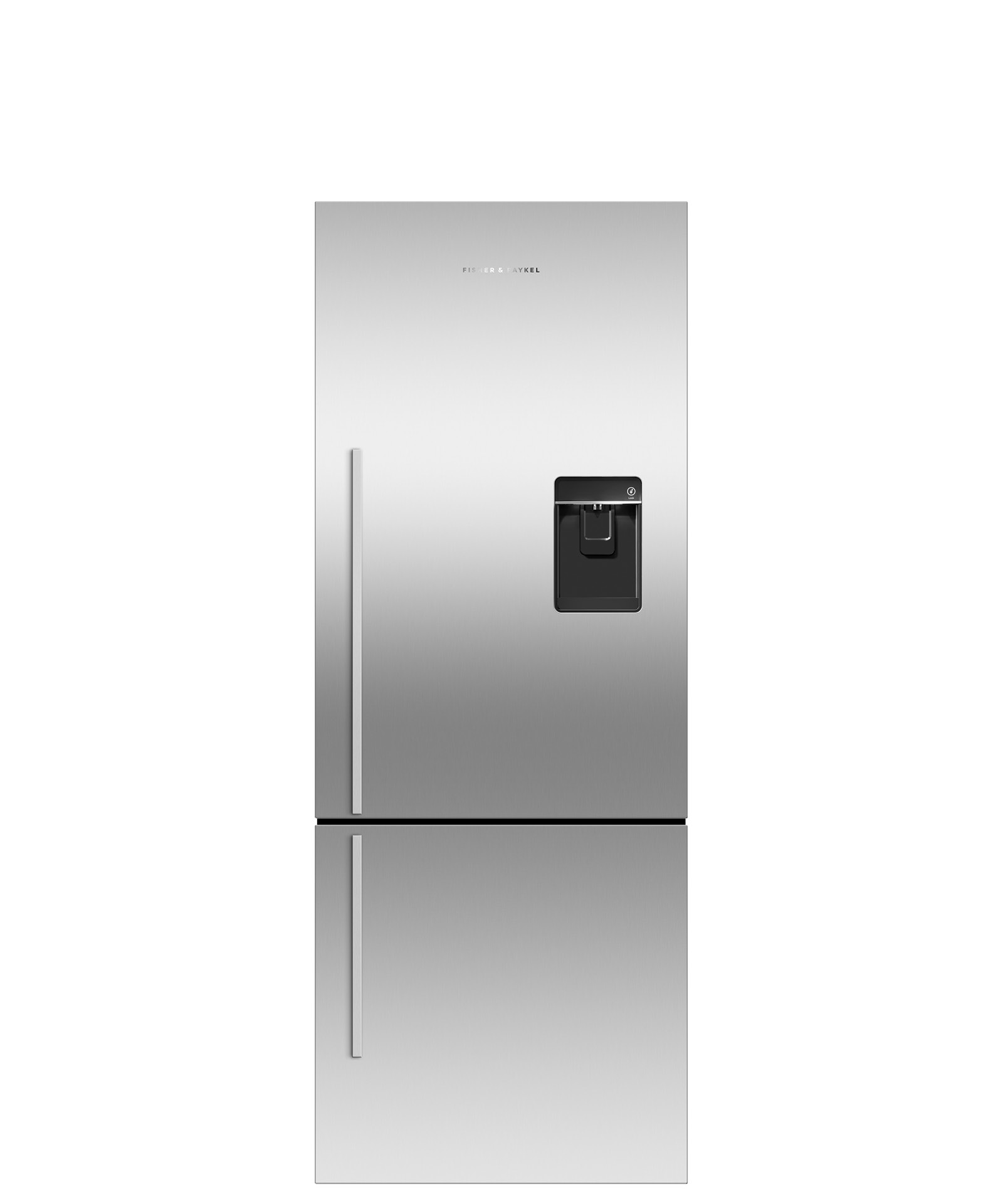 Model: RF135BDRUX4_N | Fisher and Paykel Counter Depth Refrigerator 13.5 cu ft, Ice & Water