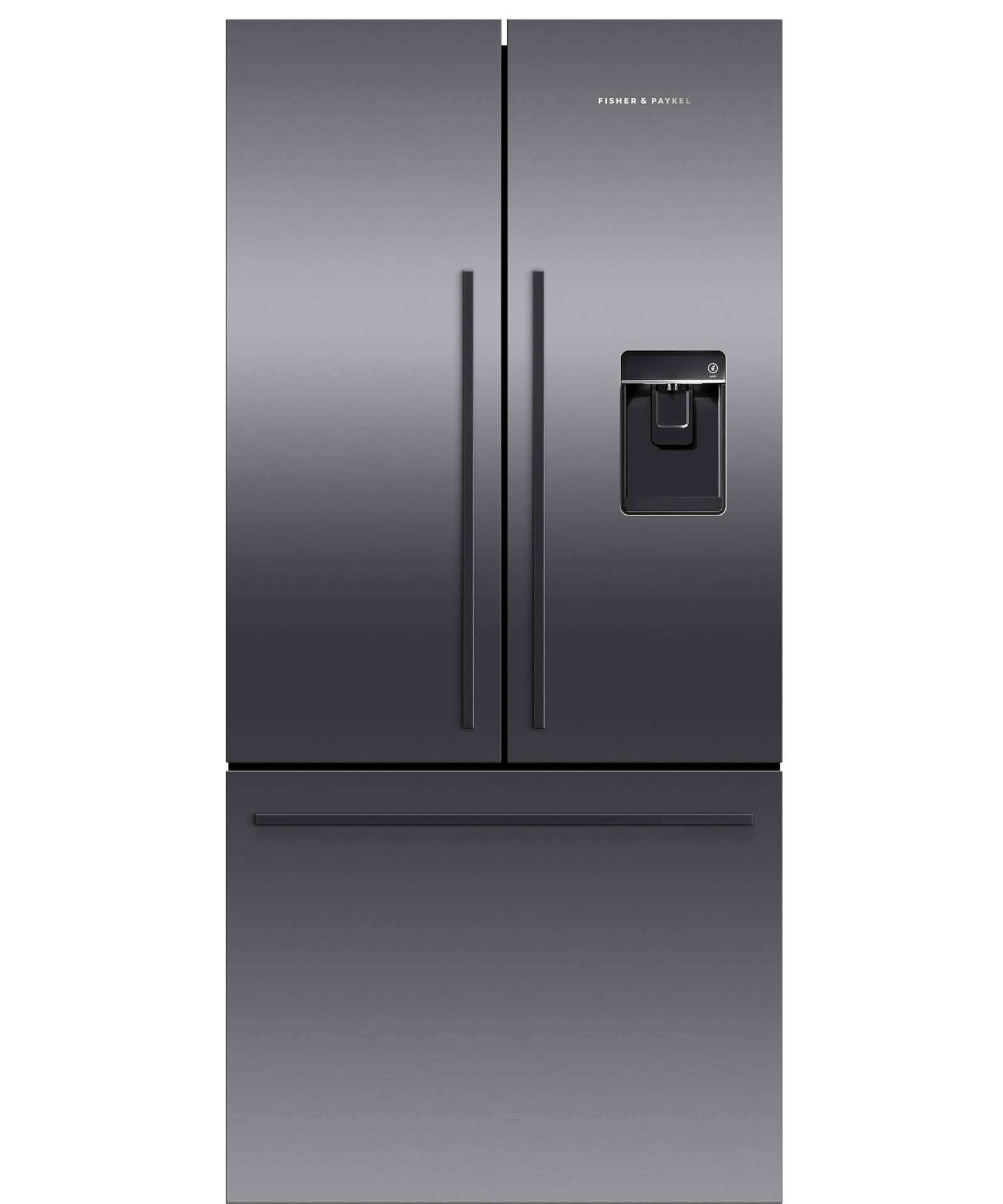 Rf522adub5 Black French Door Fridge 790mm Ice Amp Water