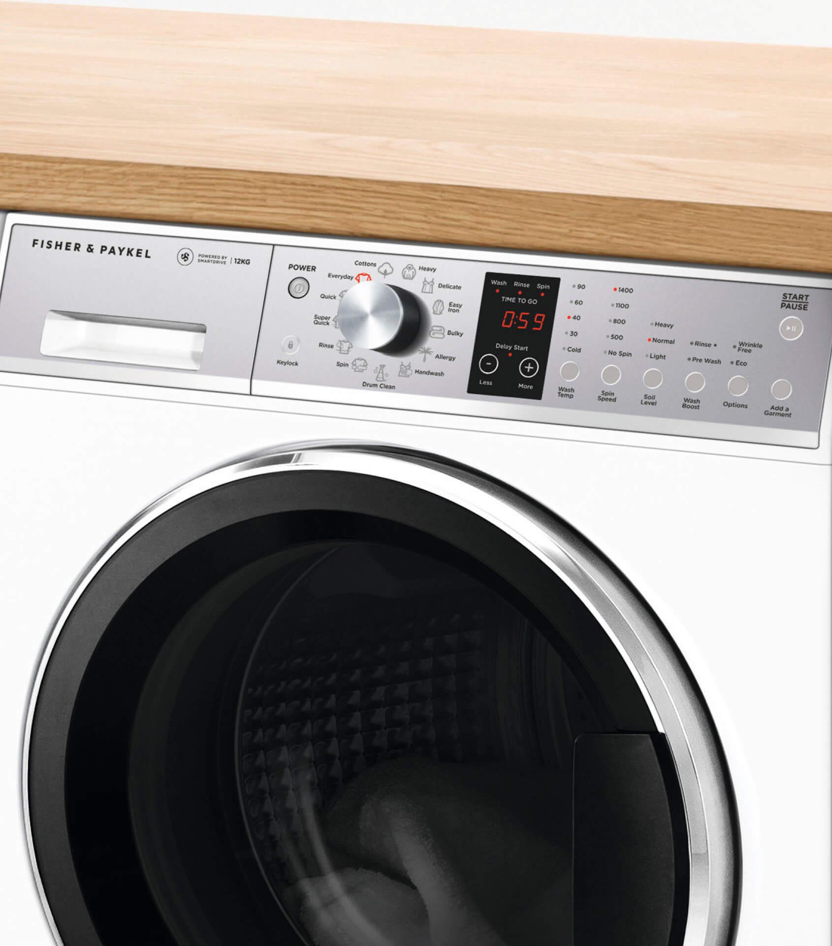 Wh1260p1 Front Loader Washing Machine 12kg Fisher