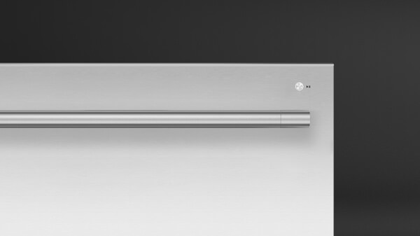 Front View of Professional Style Stainless Steel Dishwasher.
