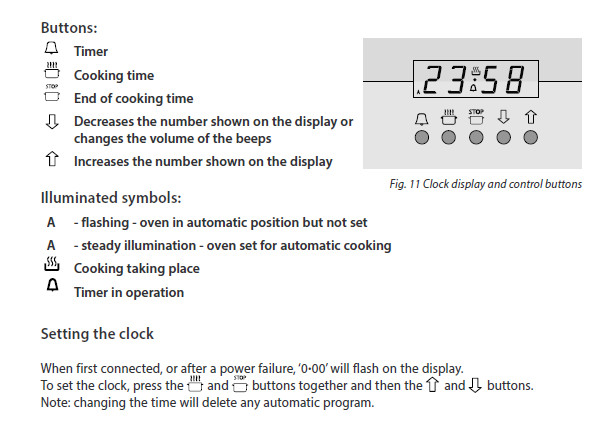 Oven Clock Instructions 7
