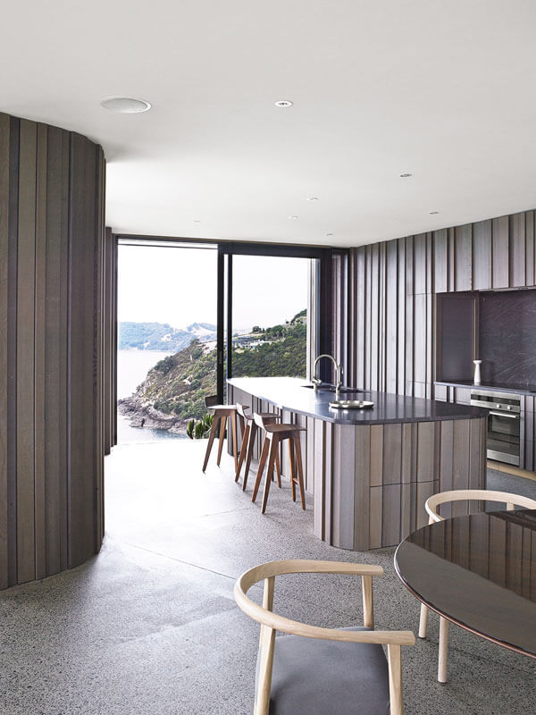 Headland House's Organic Cedar Clad Kitchen