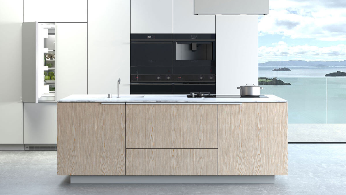 Bright Kitchen with Fisher & Paykel Kitchen Products.