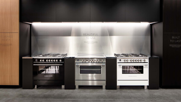 Lineup of Three Fisher & Paykel Ovens at New York Experience Centre.