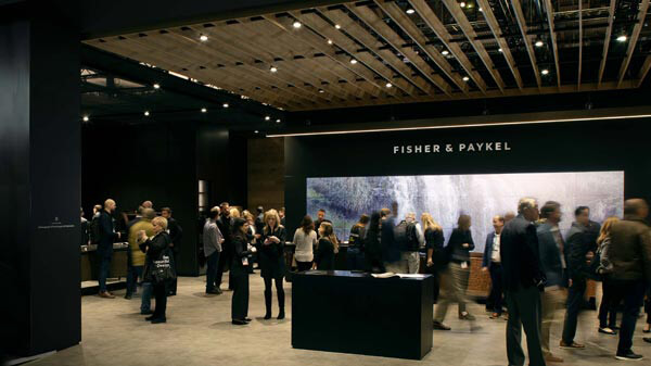 People Viewing Appliances at a Fisher & Paykel Experience Center.