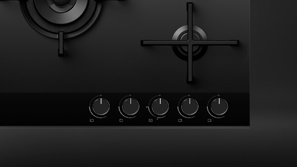 Top View of a Minimal Style Cooktop.